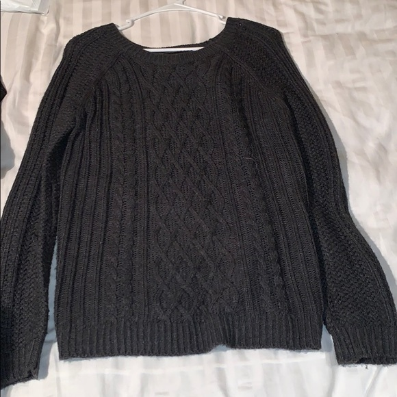 Forever 21 Sweaters - Dark grey knit sweater